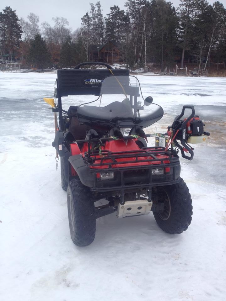 Ice Fishing Setup For Atv Ice Fishing Ice Fishing