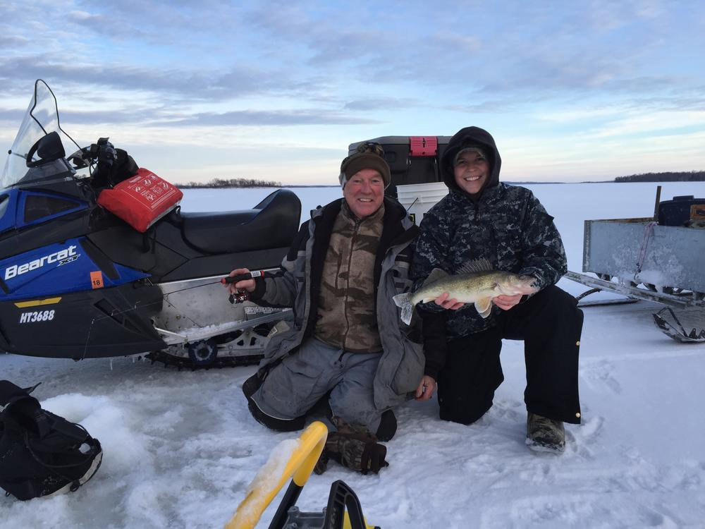 "25"" walleye caught and released by Denis Weisensel.JPG"
