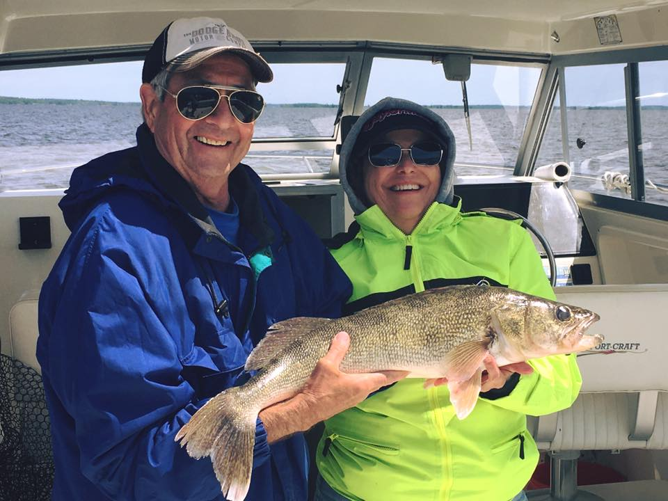 Great fishing with some great people this week and it's only Wednesday!!! With the first 30 inch walleye of the year be caught with a great couple today! - Charter fishing out of Sunset Lodge with guide, Jeremy Glessing .jpg