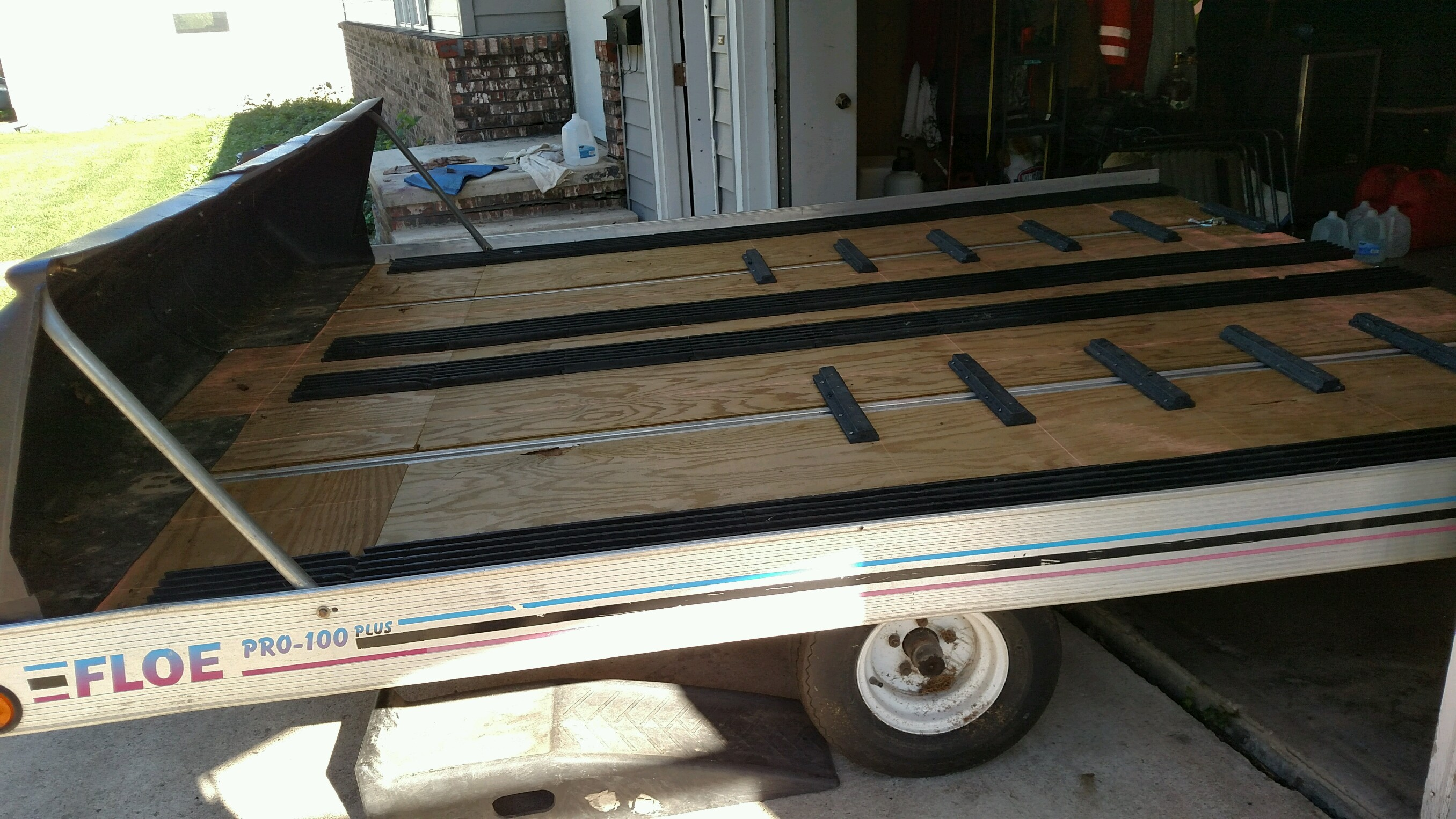 Replacing Snowmobile Trailer Deck