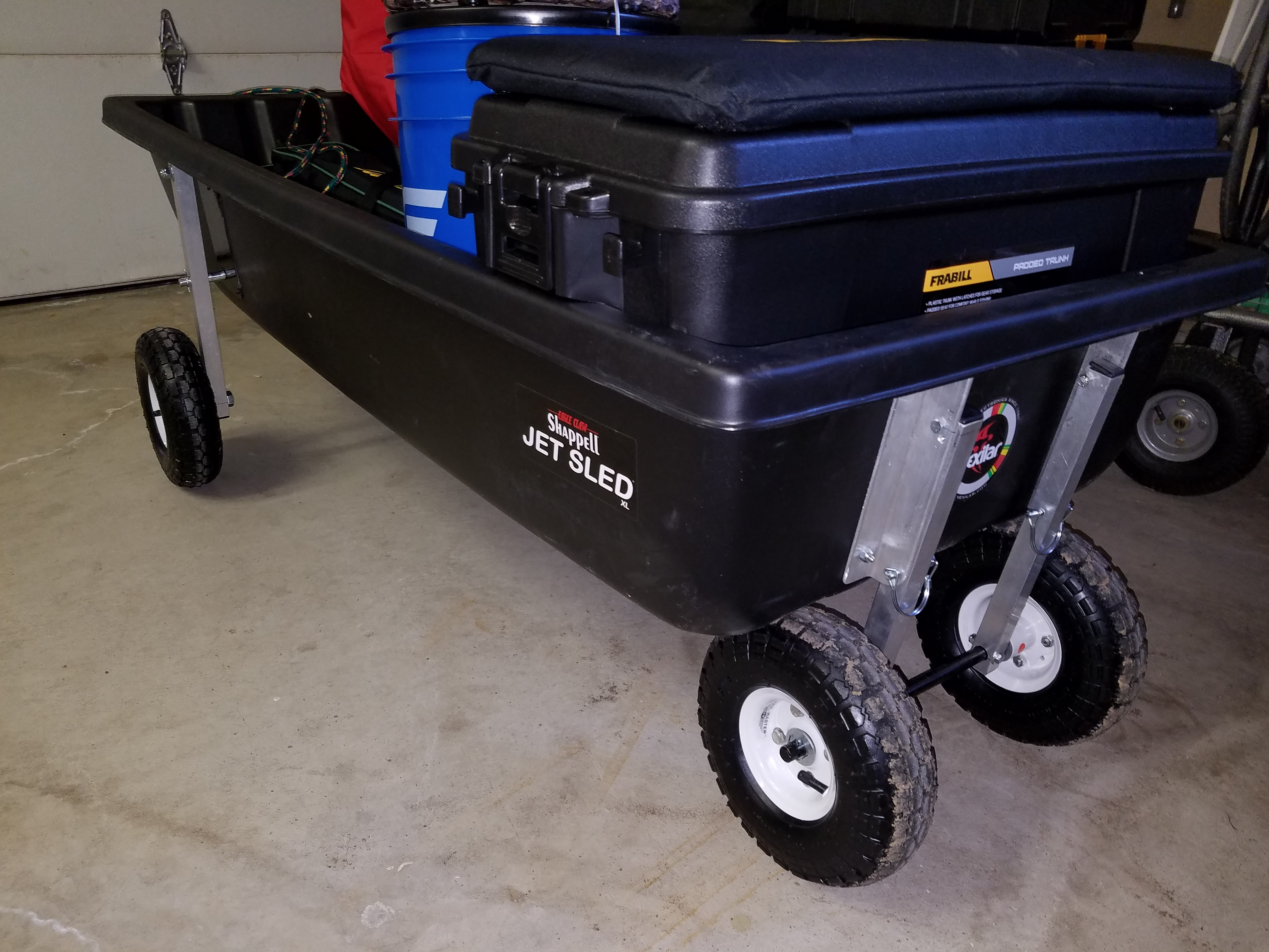 retractable wheels on an Otter sled - help? - Ice Fishing