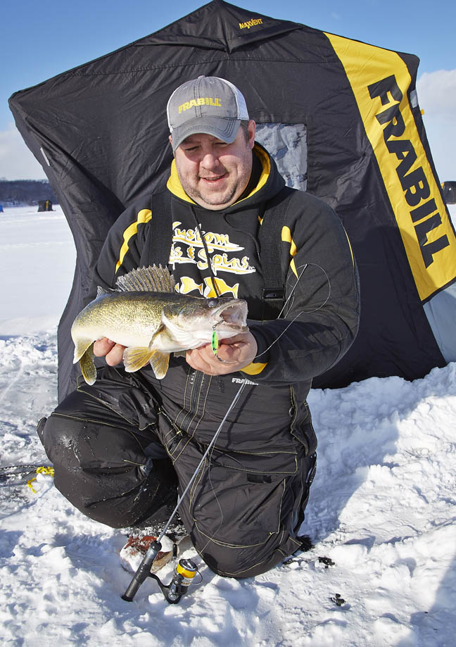 North country walleye meat the precision jigs fishing for South dakota ice fishing guides