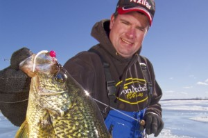 Ice Fishing Crappies a Few Feet Under the Ice