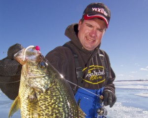 ice fishing crappies